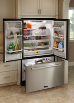 AGA PRO Plus APRO36FDIVY 19.8 cu. ft. Counter-Depth Refrigerator with Glass Shelves & Humidity Controlled Drawers