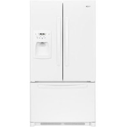 Amana AFI2538AEW 25.0 cu. ft. Refrigerator with Glass Shelves, Adjustable Door Bins & External Ice/Water Dispenser