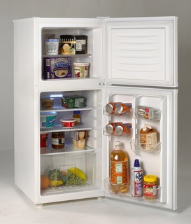 Avanti FF430W 4.3 cu. ft. Refrigerator with Wire Shelves, Clear View Crisper & Beverage Can Holders