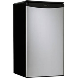 Danby DCR34BLS 3.2 cu. ft. Refrigerator with Push-Button Defrost, Beverage Dispenser & Reversible Doors
