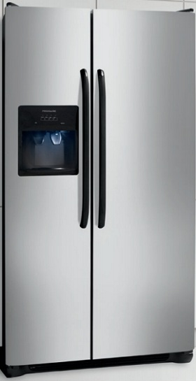 Frigidaire FFHS2611LS 26 cu. ft. Side by Side Refrigerator, 3 SpillSafe Shelves, Clear Dairy Door, PureSource 3 Water Filtration, Energy Saver Plus Technology