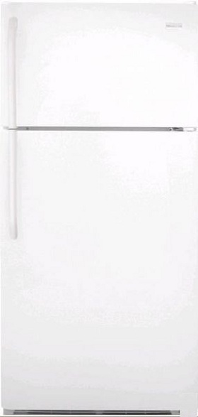 Frigidaire FFHT1817LW 18.2 cu. ft. Top-Freezer Refrigerator, 2 Adjustable Sliding Glass Shelves, 2 Humidity Controlled Crisper Drawers, Ready-Select Controls, Cool Zone Drawer