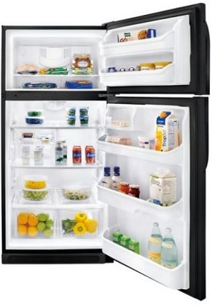 Frigidaire FFHT1826LB 18.2 cu. ft. Top Freezer Refrigerator, 2 Sliding SpillSafe Shelves, 2 Humidity Controlled Crisper Drawers, Store-More Gallon Door Storage, Cool Zone Drawer