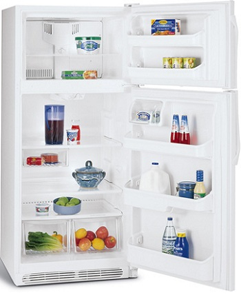 Frigidaire FFPT12F0KW 12.0 cu. ft. Top-Freezer Refrigerator, Adjustable Glass Shelves, Adjustable Door Storage, Clear Crisper Drawers, Can Rack