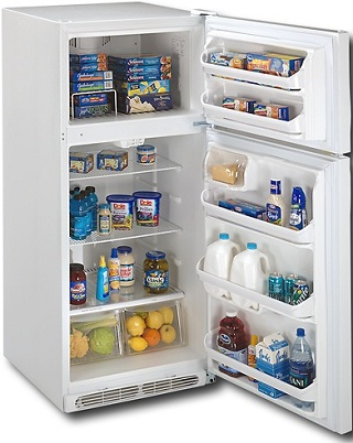 Frigidaire FFTR1814LW 18.2 cu. ft. Top Freezer Refrigerator, 2 SpaceWise Adjustable Wire Shelves, 2 Humidity Controlled Crispers, Clear Dairy Door, Ready-Select Controls
