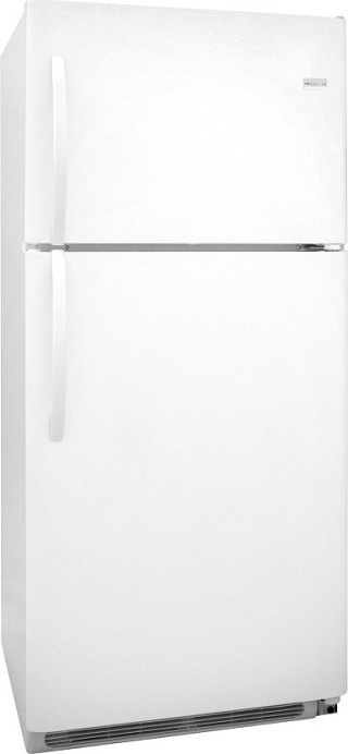 Frigidaire FFTR2126LW 20.6 cu. ft. Top-Freezer Refrigerator, SpillSafe Adjustable Glass Shelves, Full-Width Door Bins, Humidity-Controlled Drawers
