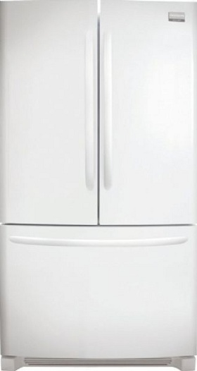 Frigidaire Gallery FGHN2844LP 27.8 cu. ft. French Door Refrigerator, 4 SpillSafe Sliding Glass Shelves, Full-Width Humidity Crispers, Quick Ice Option, Ramp-Up Lighting, Self-Closing Freezer Drawer