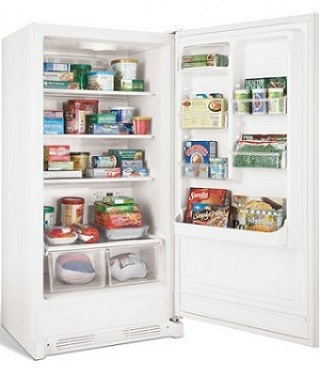 Frigidaire FKCH17F7HW 16.7 cu. ft. Convertible Upright Freezer/Refrigerator, Store-More Adjustable Door Bins, Bright Lighting,Frost Free, Reversible Door