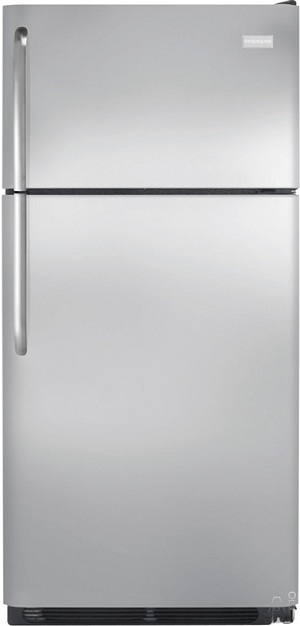Frigidaire NFTR18X4LS 18.2 cu. ft. Top Freezer Refrigerator, 2 Adjustable Glass Shelves, 2 Humidity Controlled Crispers, Clear Dairy Door, Ready-Select Controls