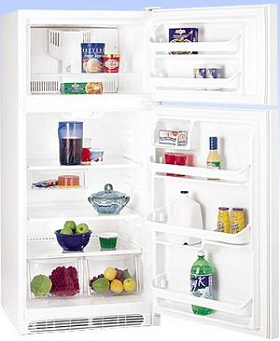 Frigidaire NFTR18X4LW 18.2 cu. ft. Top Freezer Refrigerator, 2 Adjustable Glass Shelves, 2 Humidity Controlled Crispers, Clear Dairy Door, Ready-Select Controls