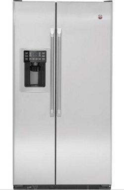 GE CSHS6UGZSS Cafe 20.8 cu. ft. Counter Depth French Door Refrigerator, ClimateKeeper System, Internal Water Dispenser, Ice Maker, Stainless Steel