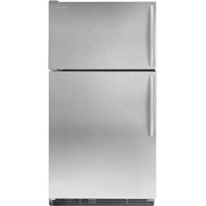 KitchenAid K2TLEFFWMS 21.7 cu. ft. Top Freezer Refrigerator, ExtendFresh Plus Temp. Management, FreshSeal Humidity-Controlled Crisper, Monochromatic Stainless Steel/Left Hinge Door