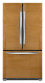 KitchenAid KFCO22EVBL Architect Series II 21.8 cu ft Counter Depth French Door Refrigerator, Panels