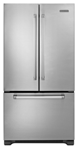 KitchenAid Pro Line KFCP22EXMP 21.8 cu. ft. Counter Depth French Door Refrigerator, SpillClean Glass Shelves, Humidity-Controlled Crispers, Internal Water Dispenser, Ice Maker and Pull-Out Tri-Level Freezer Drawer