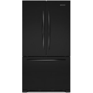 KitchenAid KFCS22EVBL Architect Series II 21.8 cu ft Counter Depth French Door Refrigerator, Black