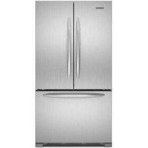KitchenAid KFCS22EVMS Architect Series II 21.8 cu ft Counter Depth French Door Refrigerator, Stainless steel