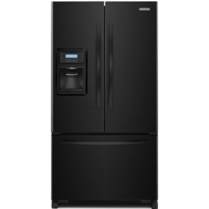KitchenAid KFIS20XVBL Architect Series II 19.9 cu ft Counter Depth French Door Refrigerator, External Ice and Water Dispenser, Black