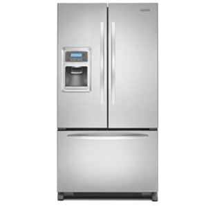 KitchenAid Architect II KFIS25XVMS 24.9 cu. ft. French Door Refrigerator, Spillproof Shelves, Humidity-Controlled Crispers, External Ice and Water Dispenser, FreshChill Temperature System, Stainless Steel