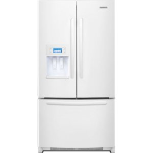 KitchenAid Architect II KFIS27CXWH 26.6 cu. ft. French Door Refrigerator, In-Door-Ice, External Ice & Water Dispenser, Color LCD Touch Display and Photo Uploading, White