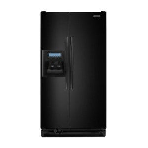 KitchenAid Architect II KSCK25FVBL 24.5 cu. ft. Counter Depth Side by Side Refrigerator, Gallon Door Storage, Humidity-Controlled Crisper,External Ice/Water Dispenser with PuR Filtration, Black