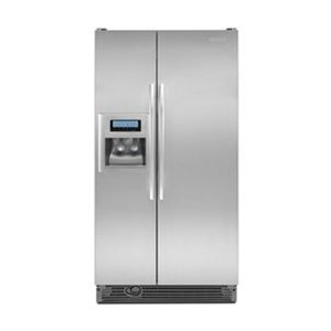 KitchenAid Architect II KSCK25FVMS 24.5 cu. ft. Counter-Depth Side by Side Refrigerator with 4 Adjustable Spillproof Glass Shelves, Gallon Door Storage, Humidity-Controlled Crisper, Door Alarm and External Ice/Water Dispenser with PuR Filtration System: Monochromatic Stainless Steel