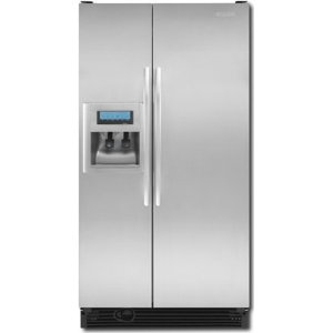 KitchenAid Architect II KSCK25FVSS 24.5 cu. ft. Counter-Depth Side by Side Refrigerator, Gallon Door Storage, Humidity-Controlled Crisper, External Ice/Water Dispenser with PuR Filtration System, Stainless Steel