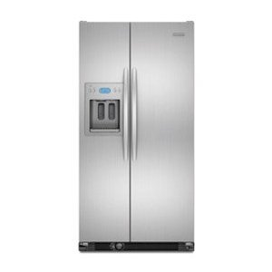 KitchenAid Architect II KSCS25FVMS 24.5 cu. ft. Side by Side Refrigerator, Spillproof Glass Shelves, Gallon Door Storage, Humidity-Controlled Crisper, External Ice/Water Dispenser, Monochromatic Stainless Steel