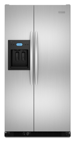 KitchenAid Architect II KSCS25FVSS 24.5 cu. ft. Side by Side Refrigerator, Spillproof Glass Shelves, Gallon Door Storage, Humidity-Controlled Crisper, External Ice/Water Dispenser, Stainless Steel