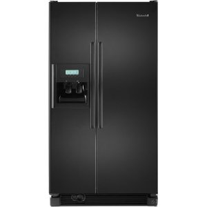KitchenAid Architect II KSRG25FVBL 25.3 cu. ft. Side by Side Refrigerator, Humidity Controlled Crisper, External Ice/Water Dispenser, In-Door-Ice, FreshChill Temperature Management, Black