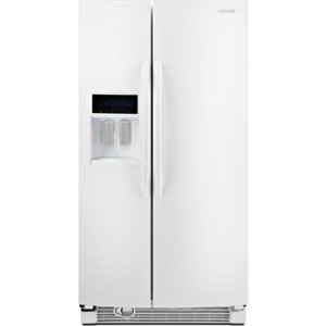 KitchenAid Architect II KSRJ25FXWH 25.6 cu. ft. Side by Side Refrigerator, Adjustable SpillClean Glass Shelves, In-Door-Ice, External Ice/Water Dispenser with LCD Display, White