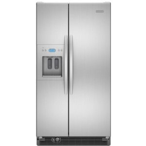 KitchenAid Architect II KSRS25RVMS 25.4 cu. ft. Side by Side Refrigerator, Humidity-Controlled Crisper, External Ice/Water Dispenser, In-Door-Ice, PuR Filtration, Monochromatic Stainless Steel
