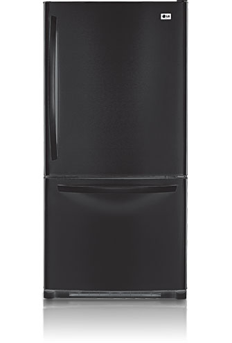 LG LBC22520SB 22.4 cu. ft. Bottom Freezer Refrigerator, Ice Maker, Smooth Black