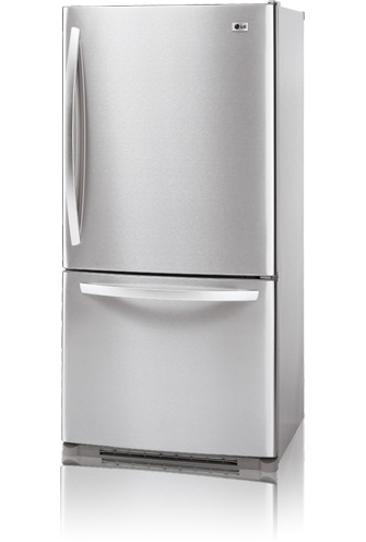 LG LBC22520ST 22.4 cu. ft. Bottom Freezer Refrigerator, Ice Maker, Stainless Steel