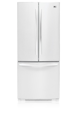 LG LFC23760SW 22.6 cu. ft. French Door Refrigerator, Glass Shelves, Ice Maker, IcePlus, Digital LED Controls, Smooth White