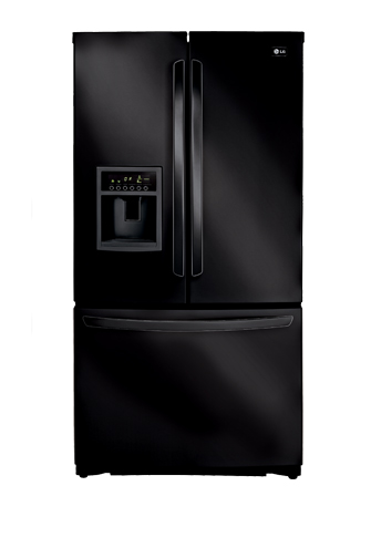 LG LFX25961SB 24.7 cu. ft. French Door Refrigerator, External Ice and Water Dispenser, Smooth Black