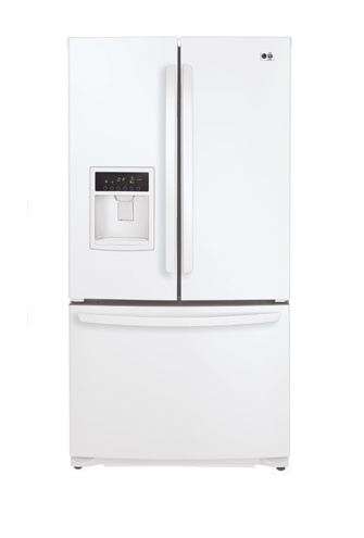 LG LFX25961SW 24.7 cu. ft. French Door Refrigerator, External Ice and Water Dispenser, Smooth White