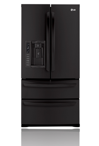 LG LMX25988SB 24.7 cu. ft. French Door Refrigerator, Double Freezer Drawers, Glide N' Serve Drawer, Energy Star Qualified, External Water/Ice Dispenser, Smooth Black