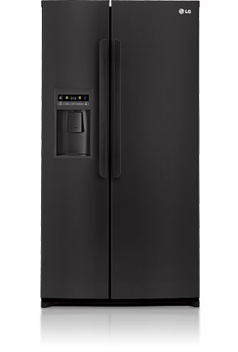 LG LSC27914SB 26.5 cu. ft. Side by Side Refrigerator, Glass Shelves, Tall Flush Mount External Ice & Water Dispenser, LED Display and Digital Controls, Smooth Black
