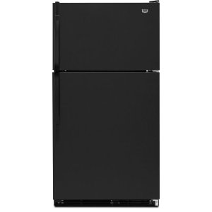Maytag M1TXEGMYB 20.6 cu. ft. Top-Freezer Refrigerator with SpillMizer Glass Shelves, Humidity-Controlled Crisper, Automatic Moisture Control, Ice Maker and Knob Controls: Black