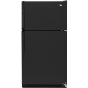 Maytag M1TXEMMWB 20.9 cu. ft. Top-Freezer Refrigerator, Factory Installed Automatic Ice Maker, Adjustable Glass Shelves, 2 FreshLock Crispers with Humidity Control, ADA Compliant: Black