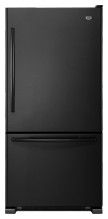 Maytag EcoConserve MBF1958XEB 18.5 cu. ft. Bottom-Freezer Refrigerator, 5 Spill-Catcher Glass Shelves, Gallon Door Storage, Glide-Out Freezer Drawer, Energy Star Qualified, Factory-Installed Icemaker