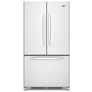 Maytag MFD2562VEM 24.8 cu. ft. French Door Refrigerator, 2 EasyGlide Spill-Catcher Glass Shelves, Electronic Triple-Cool System, Internal Water Dispenser, Accelerated Ice Production