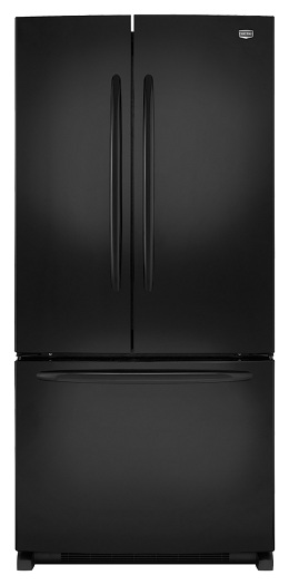 Maytag MFF2258VEB 22.0 cu. ft. French Door Refrigerator, Adjustable Spill-Catcher Glass Shelves, Pick-Off Gallon-Plus Door Bins, Automatic Moisture Control, Electronic Dual Cool System