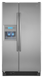 Maytag MSD2553WEM 25.0 cu. ft. Side by Side Refrigerator, 3 Adjustable Spill-Catcher Shelves, Store-N-Door Ice Dispensing System, External Ice/Water Dispenser, LCD Controls