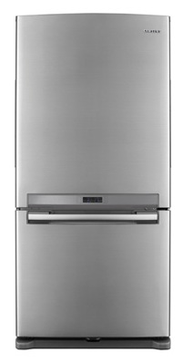 Samsung RB197ACRS 18.0 cu. ft. Counter-Depth Bottom-Freezer Refrigerator, 3 Glass Shelves, Twin Cooling System, Temperature Sensor, Power Freeze/Cool Options, Ice Maker, External Digital Display/Control