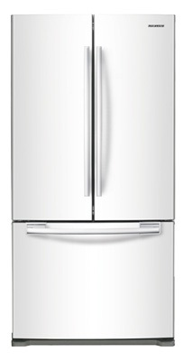 Samsung RF197ACWP 17.8 cu. ft. Counter-Depth French Door Refrigerator, 3 Adjustable Glass Shelves, Humidity Controlled Crispers, Ice Maker, LED Lighting, Internal Digital Display