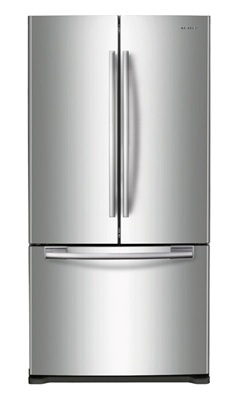 Samsung RF217ACRS 20.0 cu. ft. Bottom Freezer Refrigerator, Twin Cooling System, Power Freeze/Cool, LED Lighting, Ice Maker, 33