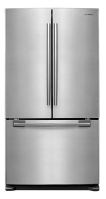 Samsung RF263AERS 25.8 cu. ft. French-Door Refrigerator, 5 Glass Shelves, Spill Proof, Twin Cooling System, CoolSelect Pantry, Power Freeze/Cool