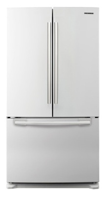 Samsung RF263AEWP 25.8 cu. ft. French-Door Refrigerator, 5 Glass Shelves, Spill Proof, Twin Cooling System, CoolSelect Pantry, Power Freeze/Cool Options