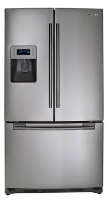 Samsung RF267AEPN 26 cu. ft. French Door Refrigerator, Twin Cooling System, Power Freeze, EZ Open Handle, Cool Tight Door, Surround Air Flow